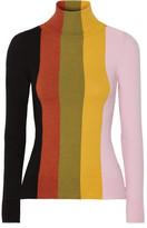 striped turtleneck sweater green - ShopStyle