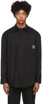 Wooyoungmi Black Poplin Crest Shirt