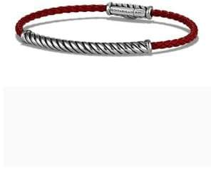 David Yurman Woven Rubber& Sterling Silver Bracelet