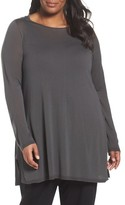 Eileen Fisher Plus Size Women's Ballet Neck Tencel Tunic Top