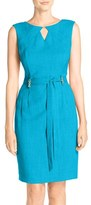 Ellen Tracy Petite Women's Cutout Woven Sheath Dress