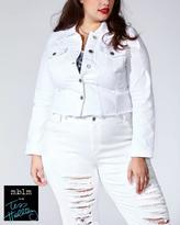 Penningtons Tess Holliday - Cropped White Denim Jacket
