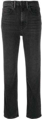 Alexander Wang Cult Flex zipped straight-leg jeans