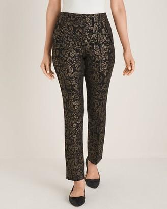 So Slimming Juliet Scroll-Print Ankle Pants