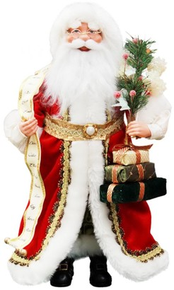 Windy Hill Collection Santa & List Decoration