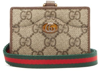 Gucci Ophidia Gg Supreme Coated-canvas Cardholder - Grey Multi