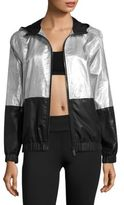 ALALA Metallic Woven Hooded Jacket