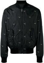 Alexander Wang cigarette print bomber jacket - men - Nylon - 46