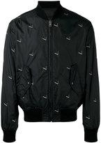Alexander Wang cigarette print bomber jacket