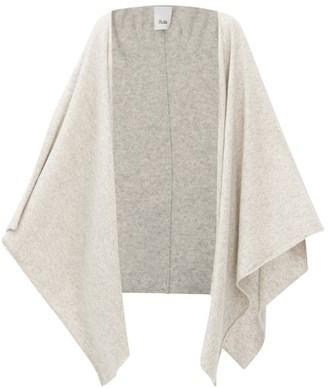 Allude Wool-blend Wrap Cardigan - Light Grey