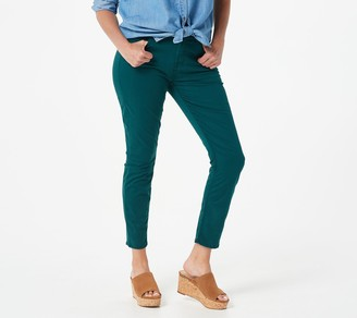 JEN7 by 7 For All Mankind Jen7 for 7 for All Mankind Sateen Ankle Skinny Jeans - Pine