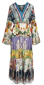 Johnny Was Dunas Printed Silk Maxi Dress