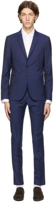 Paul Smith Blue Wool and Mohair Suit