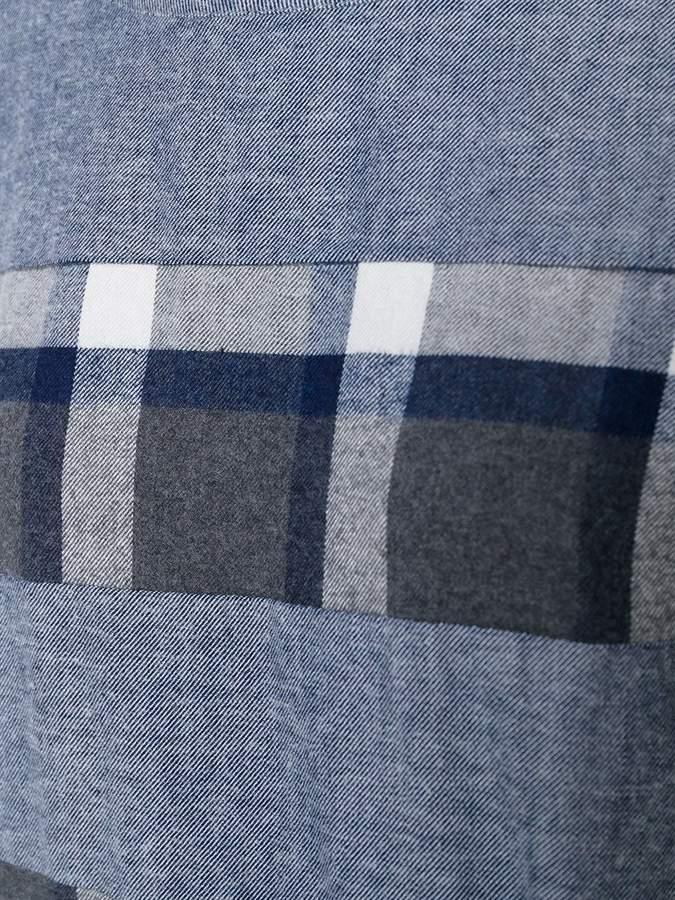 Blue Blue Japan plaid striped dress