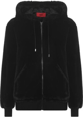 HUGO BOSS Fionas 1 Fur Bomber Jacket