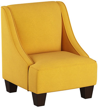 One Kings Lane Fletcher Kids' Accent Chair - Mustard - frame, espresso; upholstery, French yellow