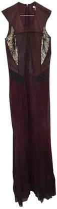 Helmut Lang Burgundy Leather Dresses