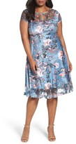 Komarov Plus Size Women's Provencal Garden A-Line Dress