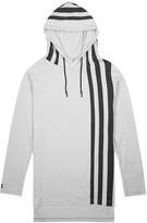 Y-3 Light Grey Striped Cotton Sweatshirt