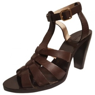 Max Mara Atelier Brown Leather Sandals