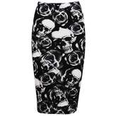 Oops Outlet Women's Printed Tube High Waist Wiggle Bodycon Pencil Midi Skirt S/M (US)