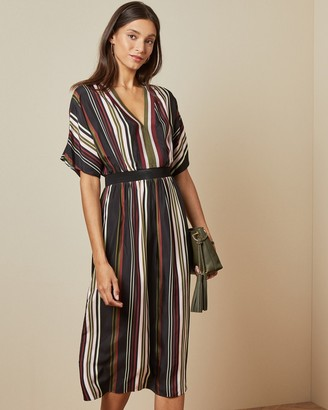 Ted Baker SAFIIYA Short sleeved striped midi dress