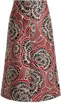 RED Valentino Floral-jacquard midi skirt