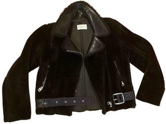 Sandro Brown Shearling Jackets