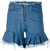 Marques Almeida Marques'almeida - flared cuff shorts - women - Cotton - 6