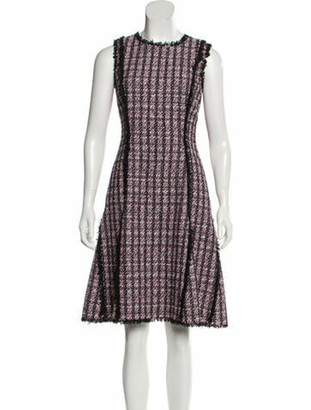 Oscar de la Renta 2017 Knee-Length Dress Pink