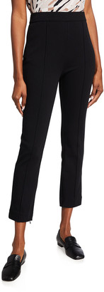 Joan Vass Petite Ankle Pants with Front Seam Detail