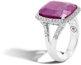 John Hardy Magic Cut Ring with Emerald and Diamonds