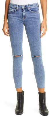 Rag & Bone Dre Ripped Crop Skinny Jeans