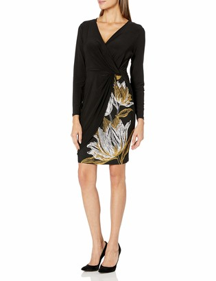 MSK Women's Twist Front Surplice Dress
