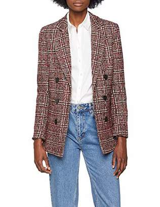 New Look Women's Check Boucle 6001274 Coat,(Manufacturer Size:)