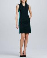 Lafayette 148 New York Ashton Zip-Front Colorblock Dress