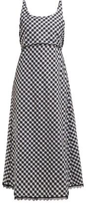 Thierry Colson Vichy Tessa Sleeveless Open-back Midi Dress - Black Multi