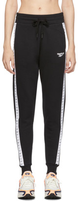 Reebok Classics Black Old School Graphic Jogger Pants