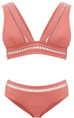 Zimmermann Bonita Ladder Cutout Bikini - Red