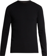Giorgio Armani Circle-weave wool-blend sweater