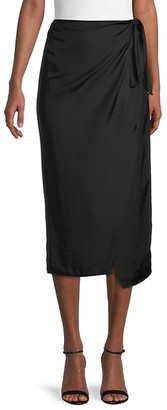 French Connection Gabina Draped Side-Tie Skirt