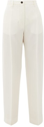 Jil Sander Mattia High-rise Gauze Trousers - White