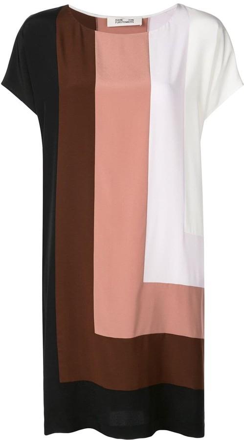 Diane von Furstenberg Danika colour-block dress