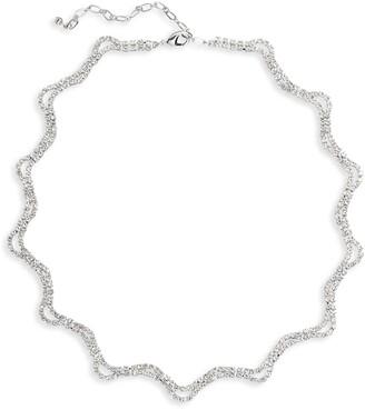 CRISTABELLE Wavy Crystal Collar Necklace