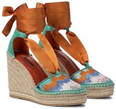 Thumbnail for your product : Missoni Zig-zag knit wedge espadrilles