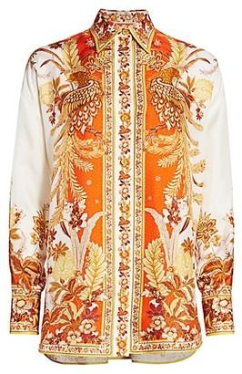 Zimmermann Brightside Placement Silk Shirt