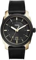Fossil Men's Machine Leather Strap Watch, 42mm