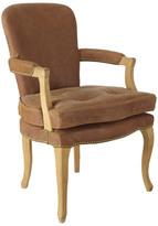 OKA Bodleian Aged Leather Desk Chair, Oak Frame