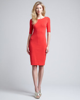 Diane von Furstenberg Messon Half-Sleeve Dress, Red