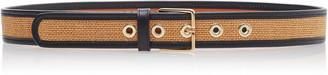 MAISON BOINET Leather-Trimmed Waist Belt